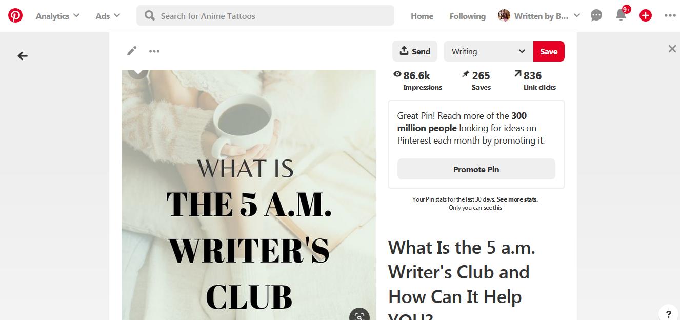 blogger pinterest results