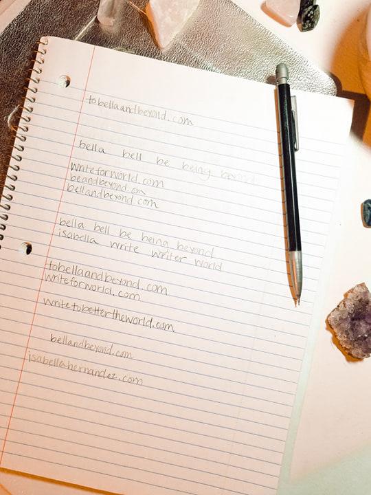 starting a blog brainstormin session